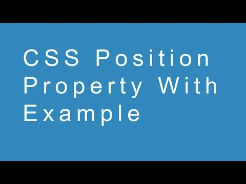 CSS Position Property With Example thumbnail
