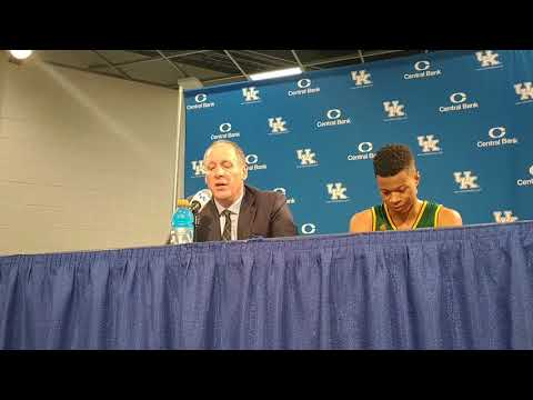 Vermont's John Becker Post-Kentucky Basketball Press Conference