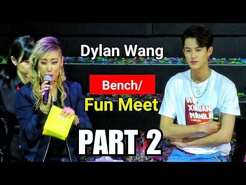 Dylan Wang 王鹤棣 FUN MEET LIVE At BENCH Manila Philippines PART 2