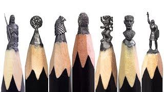 Game of Thrones A Pencil Microsculpture Collection by Salavat Fidai
