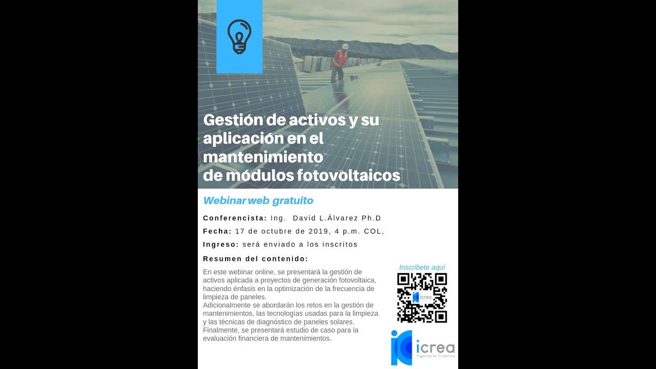 Gestión De Activos Y Su Aplicación En El Mantenimiento De Módulos Fotovoltaicos