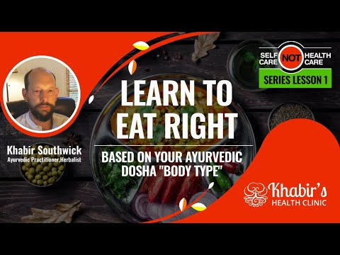 "Learn to Eat Right based on your Ayurvedic ""Dosha Body-type"" (Prakruti)"