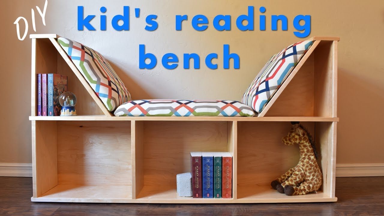 Bookshelves For Kids How To Build A Kid S Reading Nook W No Sew Cushions