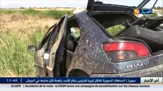 الطارف: ثلاث قتلى و جريحين في حادث مرور أليم بمنطقة بني عمار