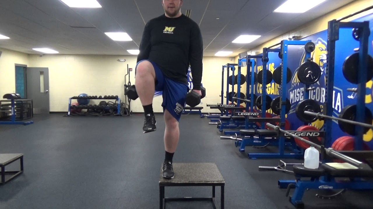 Lateral Step Ups - YouTube