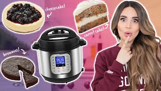 I Tried BAKING Desserts In An INSTANT POT!