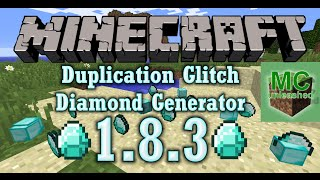 Minecraft 1.8.8 Duplication Glitch and Diamond Generator