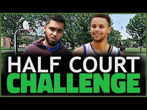 Gamer vs Stephen Curry Half Court Basketball Challenge! NBA 2k16