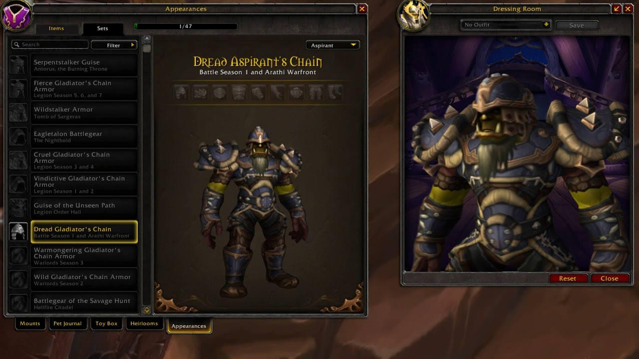 Dread Aspirants Chain Horde Mail Pvp Armor World Of Warcraft