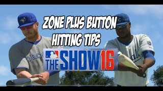 MLB 16 THE SHOW: ZONE + BUTTON HITTING TIPS!
