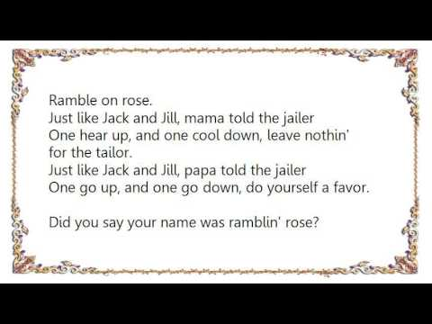 Grateful Dead - Ramble on Rose Lyrics