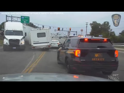 Ohio police intercept RV driver after lengthy chase