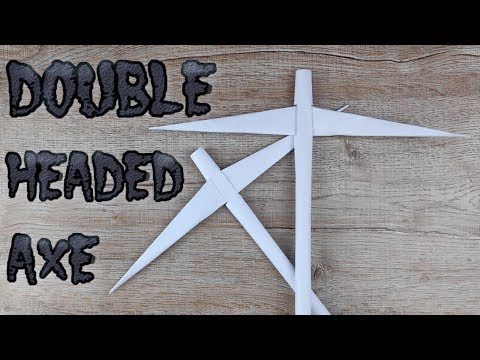 DIY Paper Gold Miner Axe | How to Make Easy Double Headed Battle Axe Tutorials | Origami Craft Toy