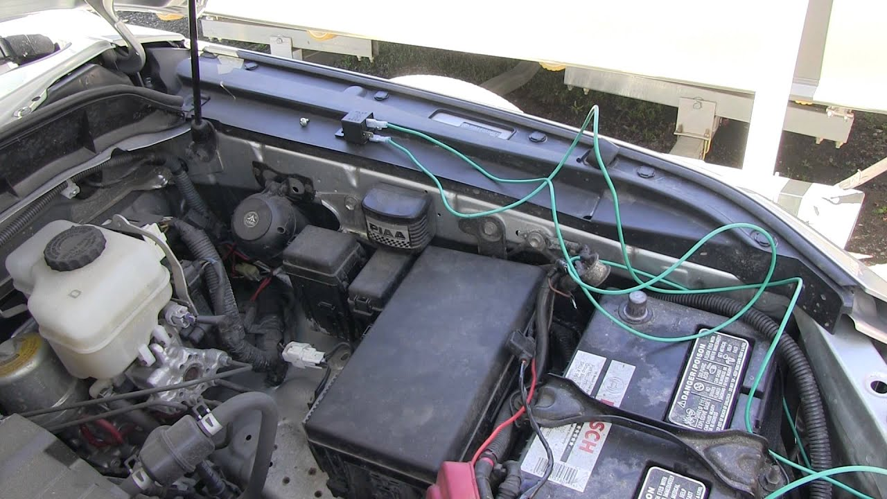 hight resolution of hella supertone horn upgrade install on 2007 fj cruiser