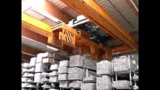 Кран мостовой на предприятии VEKA(Кран мостовой г/п 1,6 тонн с поворотными тележками на предприятии VEKA (Германия). Кран применяется для пакетно..., 2013-11-01T14:31:53.000Z)