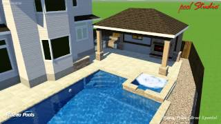Rectangular Custom Pool W Gazebo