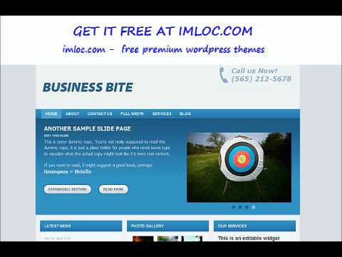 Wpzoom — Business bite wp template – Free download