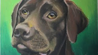 Oil Pastel tutorial for Beginners | How to draw a Dog | Saminspire