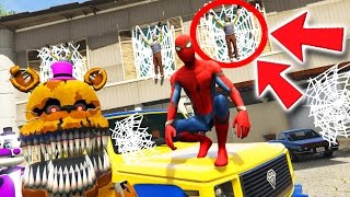 ANIMATRONICS & SPIDER-MAN vs HELLO NEIGHBOR MOD! (GTA 5 Mods For Kids FNAF Funny Moments)