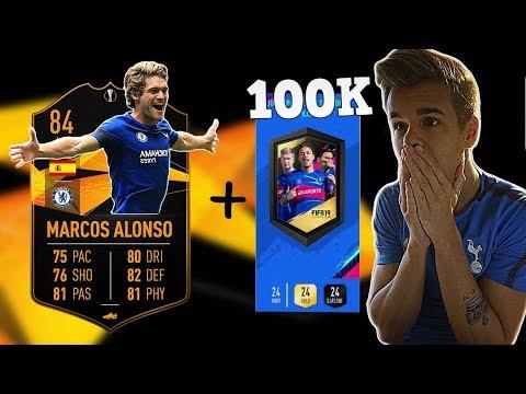 MARCOS ALONSO EUROPA LEAGUE KORT + 100K PAKKE!!!