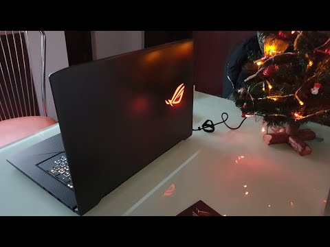 Unboxing ASUS Gaming 17.3'' ROG Strig GL703GE intel i7-8750H, SSHD 1TB, GeForce GTX 1050 Ti 4GB