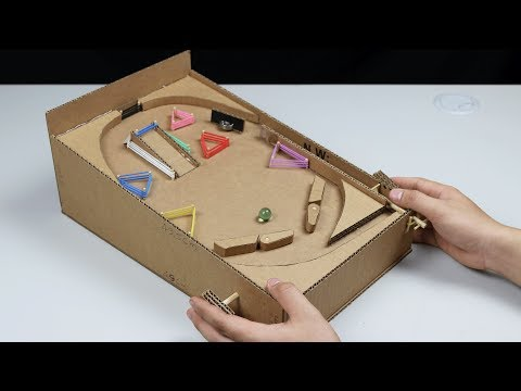 How to make a Pinball Machine with Cardboard at Home