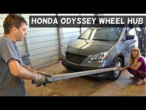 HONDA ODYSSEY FRONT WHEEL HUB REMOVAL REPLACEMENT