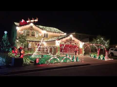 Christmas light show - Wizards of Winter 2016