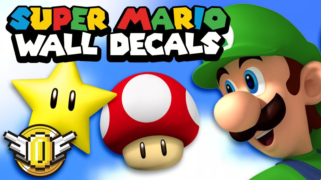 Nintendo Super Mario Wall Decals!   Super Coin Crew