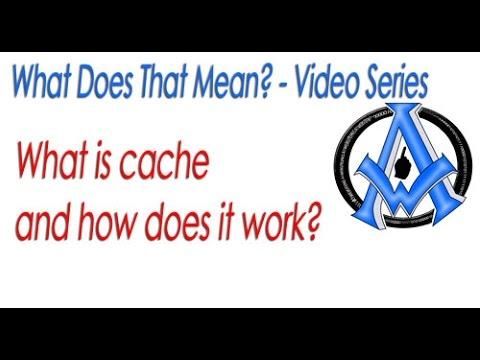 What is cache and how does it work on a server?