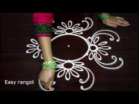 simple rangoli designs with dots - small kolam designs - muggulu designs