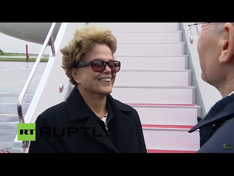LIVE: Brazil president Dilma Rousseff arrives in Ufa