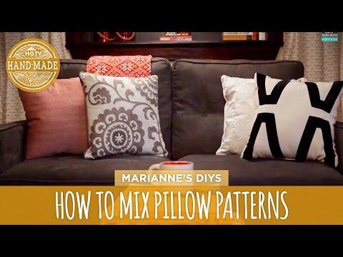 How To Mix and Match Throw Pillows - HGTV Handmade