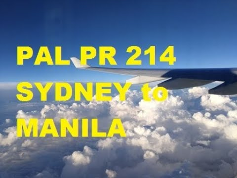 Philippine Airlines (SYD To MNL) ECONOMY CLASS PR 214 A330-300