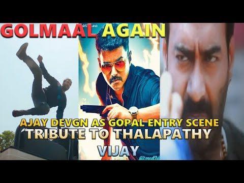 Golmaan Again I Ajay Devgn Mass Entry Scene I Tribute to Thalapathy Vijay I Bairavaa I Ajay Devgan