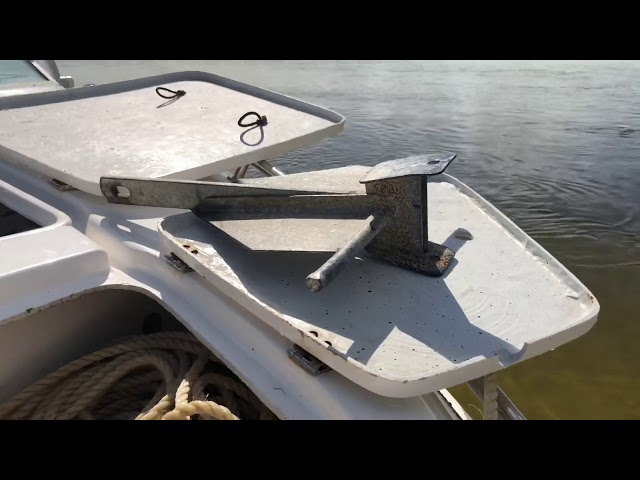 Pulley anchoring system off a beach explained