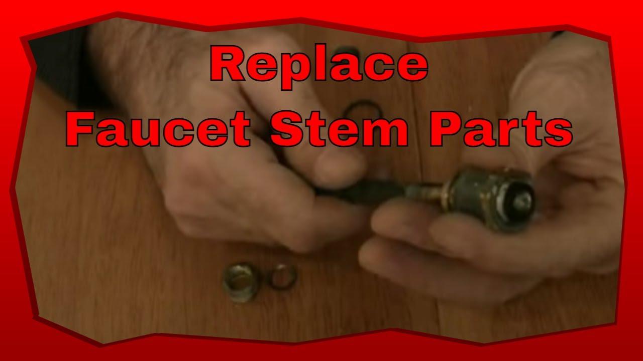 how to replace bathtub faucet stem parts