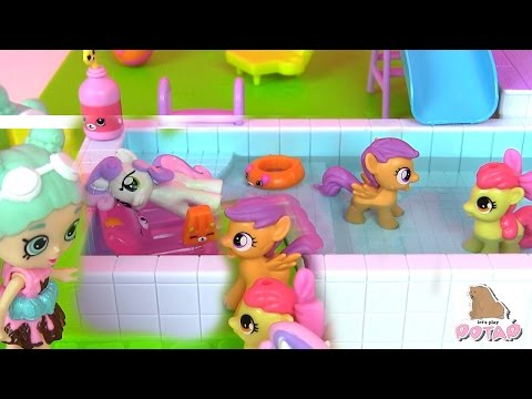 Видео: Май Литл Пони Мультик MLP Шопкинс на Русском Pool  Sun Deck Видео для Детей. Игрушки для Девочек
