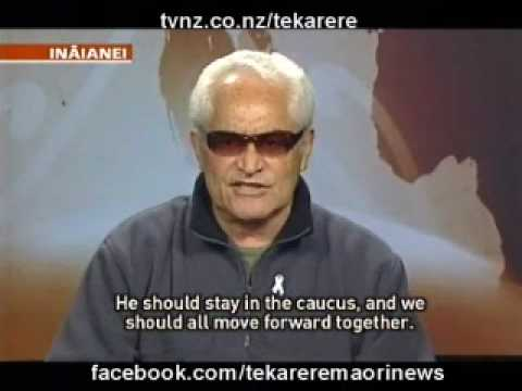 Interview with Amster Reedy about the Maori Party