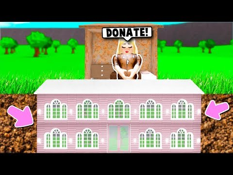 I FAKED BEING HOMELESS BUT HAD A *SECRET* MANSION ON BLOXBURG! (Roblox)