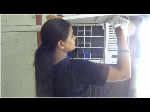 How To Clean Window AC || Step By Step cleaning Method || Window AC weekly cleaning2018.
