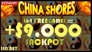 ⭐️MASSIVE HANDPAY CHINA SHORES DOUBLE WINNINGS ⭐️FOR SLOTTY BY NATURE ⭐️HIGH LIMIT KONAMI SLOT ⭐️
