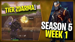 WHERE is the FIRST FREE TIER FOR SEASON 5 (Week 1) ➤ Fortnite | Lego007las