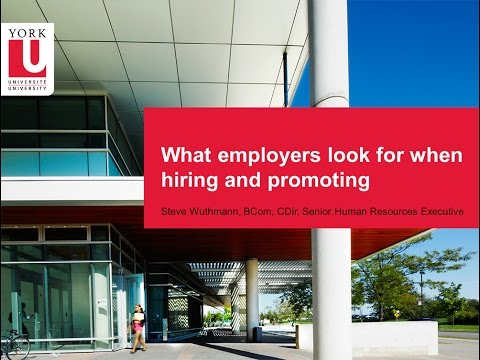 What Employers Look For When Hiring And Promoting