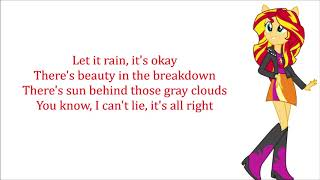 My Little Pony - Equestria Girls Let It Rain Lyrics