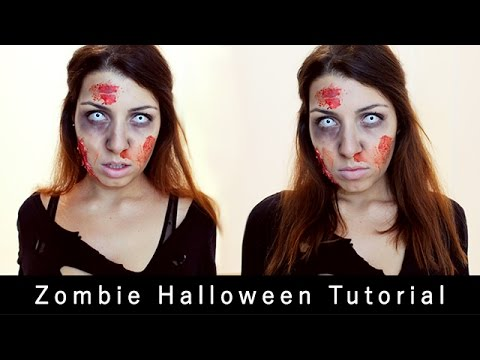 maquillage halloween | zombie (the walking dead) - youtube