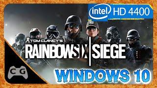 Rainbow Six Siege Gameplay Intel HD Graphics - Teste no Windows 10 #139