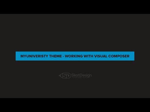 My University - Working with Visual Composer