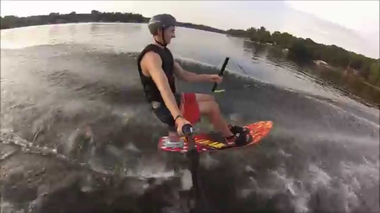 Gutsy air chair flip over dock mike murphy on hydrofoil waterskiing - First Time Riding An Air Chair Gopro