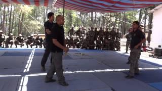 Mandala Kanishka training Special Force in Pekiti Tirsia Kali